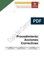 PROCEDIMIENTO ACCIONES CORRECTIVAS