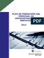Plan de Formacion 2011
