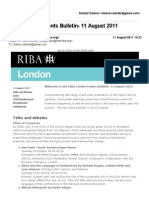 RIBA London Events Bulletin- 11 August 2011