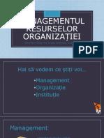 Managementul Resurselor organizației