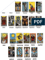 Tarot assignments to Planets and Constellations