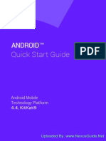 Android 4.4 KitKat Quick Start Guide Book - English