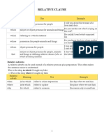 RELATIVE CLAUSE (Pronouns +Adverbs)