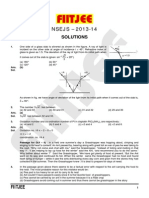 NSEJS-2013-14 Paper With Solution