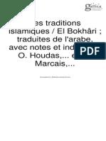 al-Bukẖārī, Muḥammad ibn Ismāʿīl (0810-0870), Les traditions islamiques. Tome 4, E. Leroux (Paris) 1903-1914