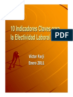 10 Indicadores Claves Para La Efectividad Laboral