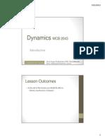 Dynamics Week 1a