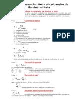 F. Bun-Dimensionarea Circuitelor Si Coloanelor de Iluminat Si Forta