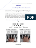 Piano lessons - Excerpt of lesson 14 from the Chordpiano-Workshop - Major chords with minor seventh
