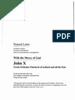 Patriarch John x Pastoral Letter 2013-02-17(1)