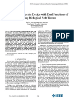 A Novel Piezoelectric Device With Dual Functions Of