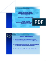 Public Procurement DG Regional Policy Claude Tournier