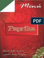 Menu Paprika