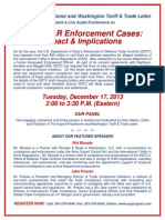Enforcement Audio Conference Flyer