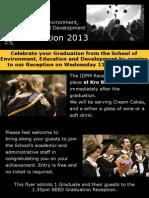 IDPM Graduation Reception 11-12-2013 Flyer