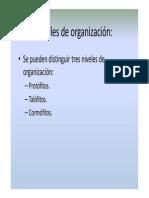 Morfo 2 Niveles de organización [Modo de compatibilidad]