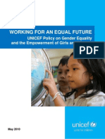 UNICEF Gender Policy 2010