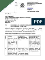 Anti Corruption Amendment Bill DPP Submissions