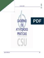 Apostila MS Excel CSU Caderno de Exercicios