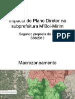 Impacto do Plano Diretor na subprefeitura M'Boi-Mirim