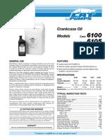 CAT Crankcase Oil Data Sheet