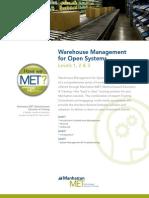 Manh Met Warehouse Management Open System Training en Us