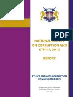 National Survey Corruption Ethics 2012