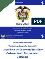 Pol%EDtica Descentralizaci%F3n y Ordena Terri en Colombia