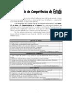 Question+írio de Compet+¬ncias de Estudo
