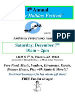 Annual Winter Holiday Festival Flyer