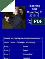 Developing a Coaching Philosophy