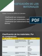 Clasificación de los materiales scrib