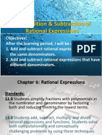 6 3 addition and subtraction of rational expressions