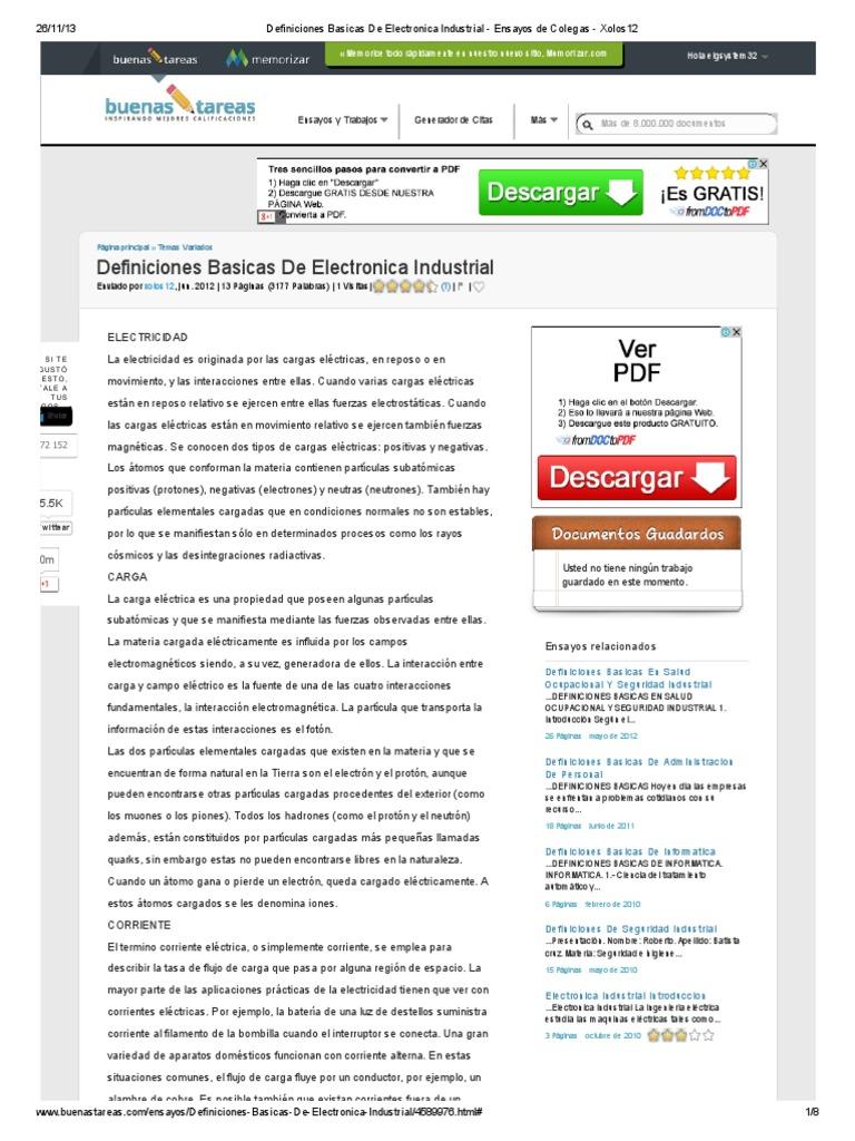 Definiciones basicas de electronica industrial ensayos de colegas definiciones basicas de electronica industrial ensayos de colegas xolos12pdf ccuart Image collections