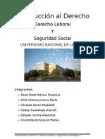 Introducción al derecho - Trabajo Práctico - Derecho Laboral y Seguridad Social.