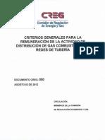 D-050-12 DISTRIBUCIÓN DE GAS