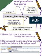 Funcții Excel (Sintaxa, Categorii, Modalitati editare)