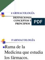02 FARMACOLOGÍA DEFINICIONES