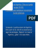 Politica Exterior Arg Chile 2009