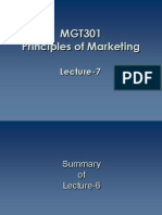 Principles of Marketing - MGT301 Power Point Slides Lecture 7