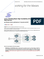 Linux Building Basic High Availability Infrastructure for Web S