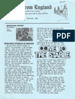 Epistles From England Team-1981-England