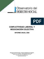 Conflictividad Laboral y Negociacion Colectiva - Informe Anual 2008-2