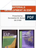 Materials Development in Esp