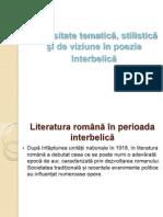 Diversitate tematica, stilistica si de viziune in poezia interbelica