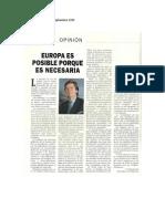 Daniel de Busturia- Europa es posible porque es necesaria