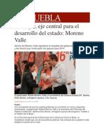 25-11-2013 Milenio.com - La Mujer, Eje Central Para El Desarrollo Del Estado, Moreno Valle