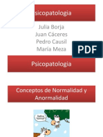 Psicopatologia Normal Anormal