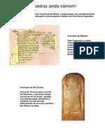 Arqueologia Biblica - As Pedras Ainda Clamam