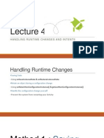 Lecture 4 Handling Runtime Changes and Intents